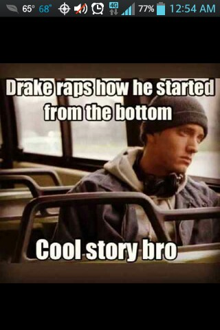 Really tho. Drake started at Degrassi, not the bottom