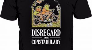 Disregard The Constabulary T-Shirt – Funny Frog Meme Police #policememes explore Pin...
