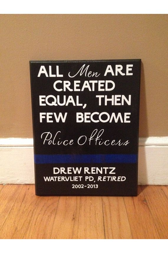 Custom Police Officer Sign with Quote, Officer Name, Department and Badge Number. on Etsy,...