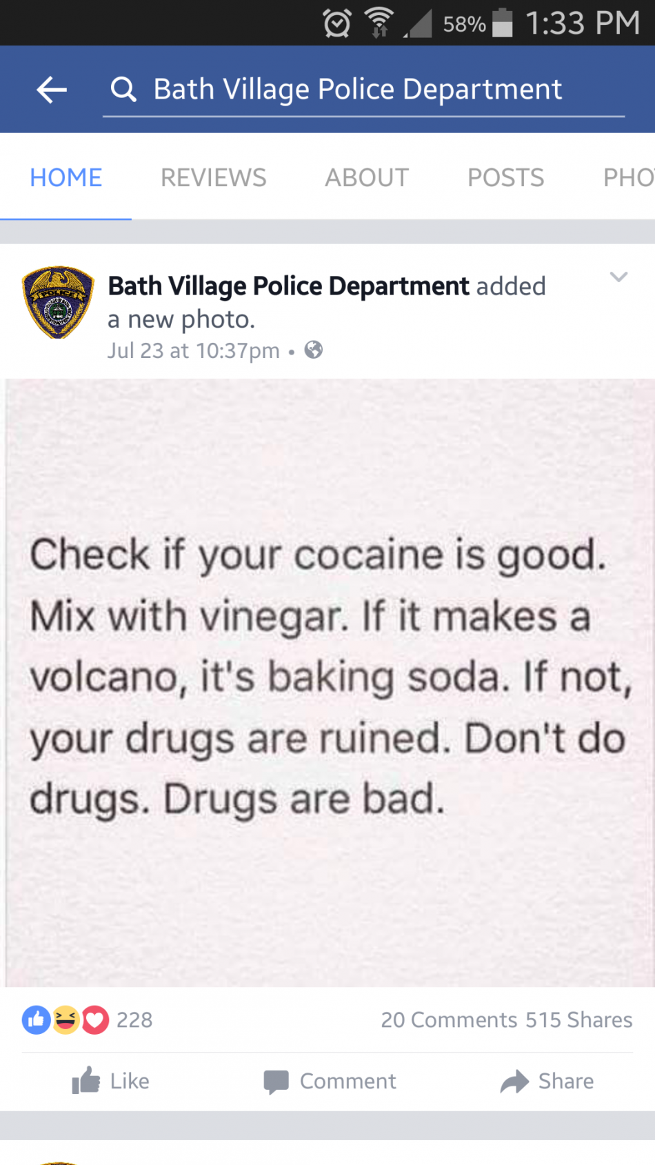 Police telling the real story
