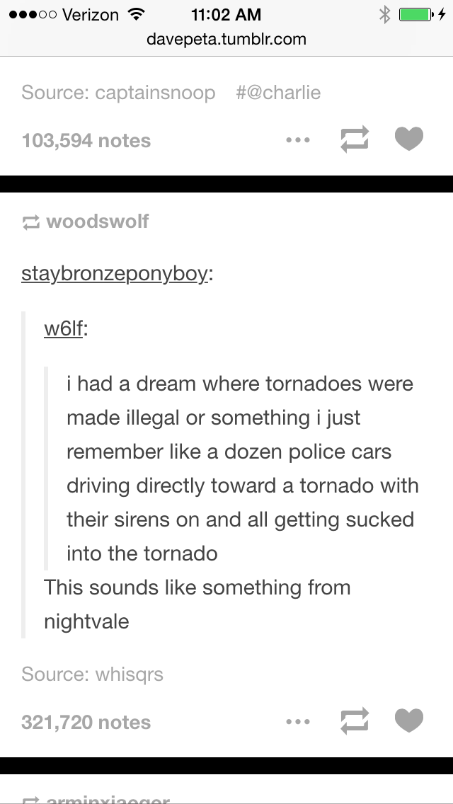 Except in Night Vale, the Sheriff's Secret Police wouldn't actually drive into...