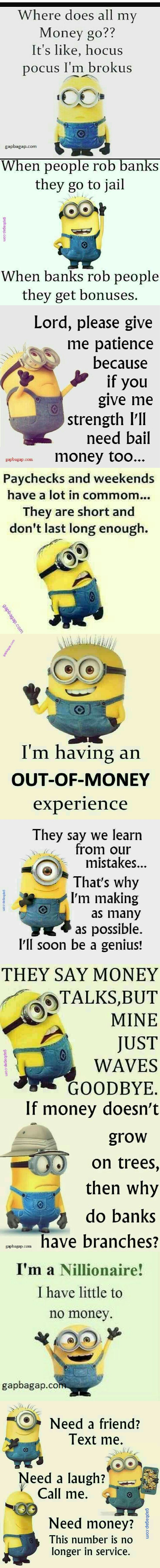 Top 10 Funny Memes About Money By The Minions