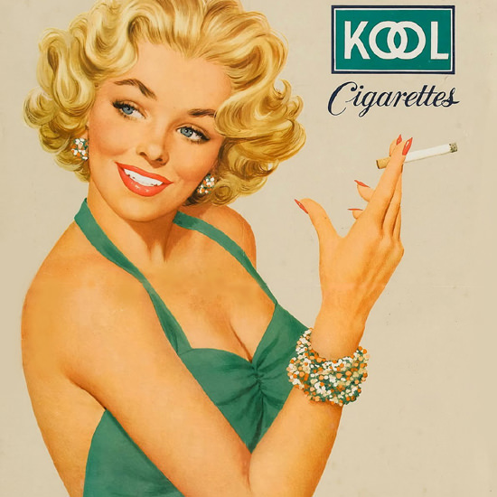 Detail Of Kool Blonde Girl Cigarettes Mild Menthol – The detail views category featu...