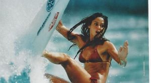 Original vintage poster ROXY QUICKSILVER BEACH SURF GIRL