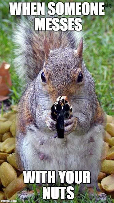 When someone messes with your nuts | WHEN SOMEONE MESSES WITH YOUR NUTS |…