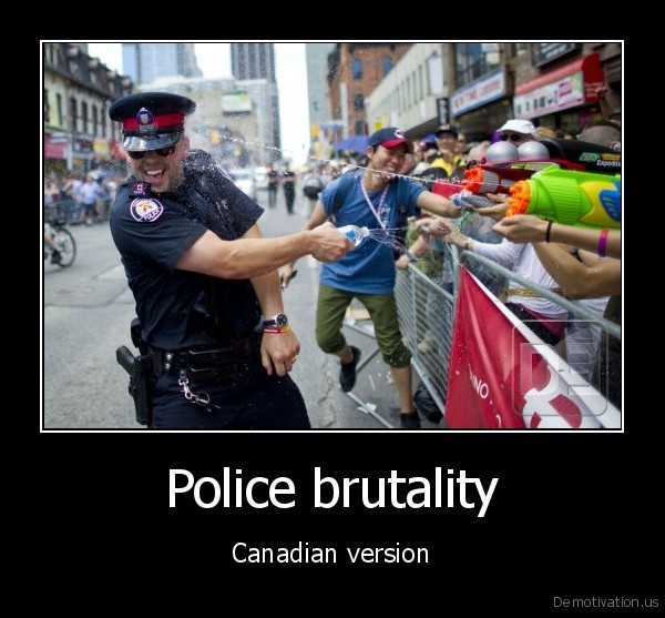 Meanwhile in Canada These are the only guns we allow police officers to have…