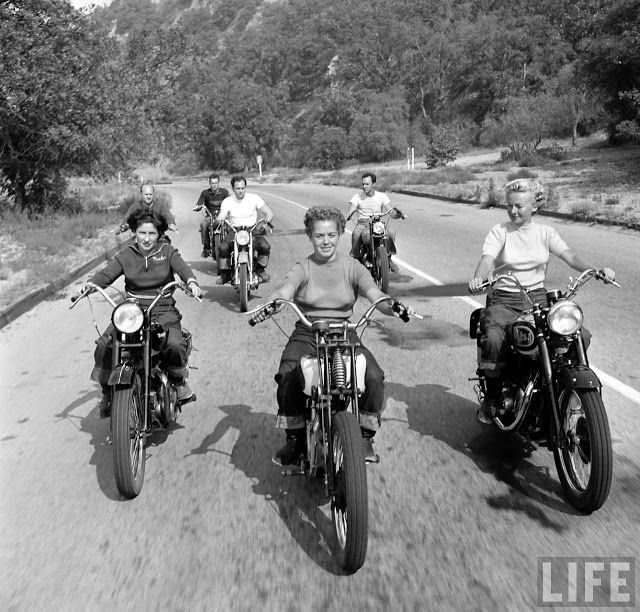 1940s Bike Girls: Fascinating Photos of Female Motorcyclists From 1949, Taken by Loomis De...