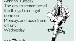 Ahhhhh Tuesday. The day to remember all the things I didn't get done on…