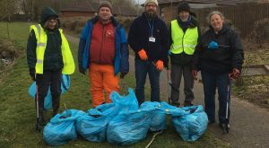 Penrith's dog poo bag shame Town Councillor, Doug Lawson, and five volunteers from Penri...