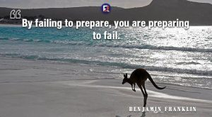 Benjamin Franklin Quote By failing prepare – By failing to prepare, you are preparin...