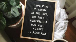 How is Laundry Day not an official day of the week yet? Saturday, Sunday,…