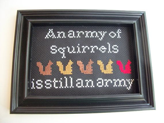 Funny squirrel quote from Magic the Gathering by FunWithNeedles, $