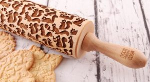 FUNNY SQUIRRELS embossing rolling pin by MoodForWood on Etsy