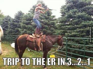 Trip to the ER in hahaha I can see me doing this! Gotta try…