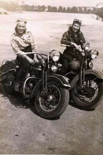 A couple of biker babes on the loose and lookin' for trouble