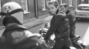 "History Story: #5 explore Pinterest""> #5 Biker girl, 1960s. Rare historical photos t..."