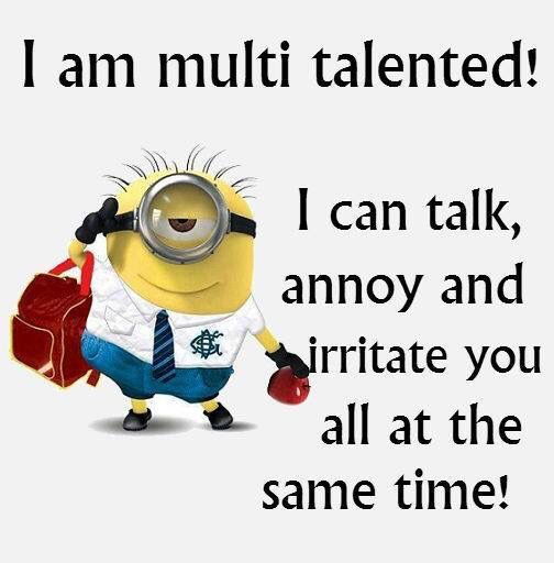 I am multi talented! I can talk, annoy and irritate you all at the…