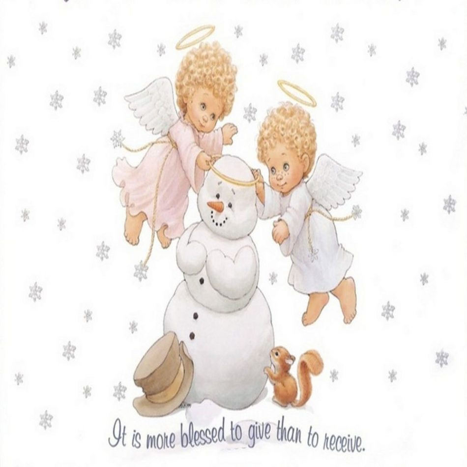 Baby angels Christmas snowman snow flake squirrel quote pillow cushion Cover 18″