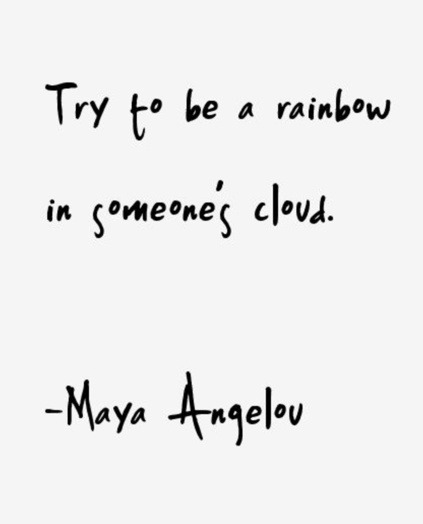 GIRLBOSS MOOD: Try to be a rainbow in someone's cloud // Monday motivation by…