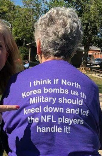 I think if North Korea bombs us the military should kneel down and let…