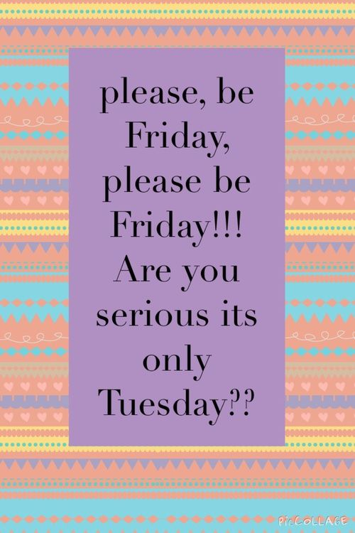 Please, be Friday, please be Friday!! Are you serious it's only Tuesday?? #tuesday e...