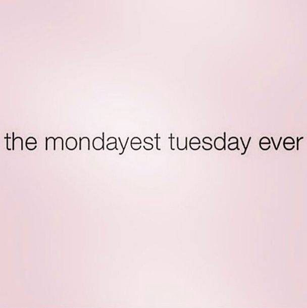 The Mondayest Tuesday ever