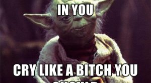 Much butthurt I sense in you Cry like a bitch you should – Yoda…