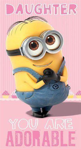 £ GBP – Despicable Me 2 Daughter You Are Adorable Birthday Card Gift Minion…