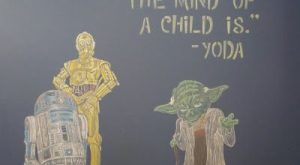 My Chalkboard Wall – Found the perfect yoda quote to fit my life right…