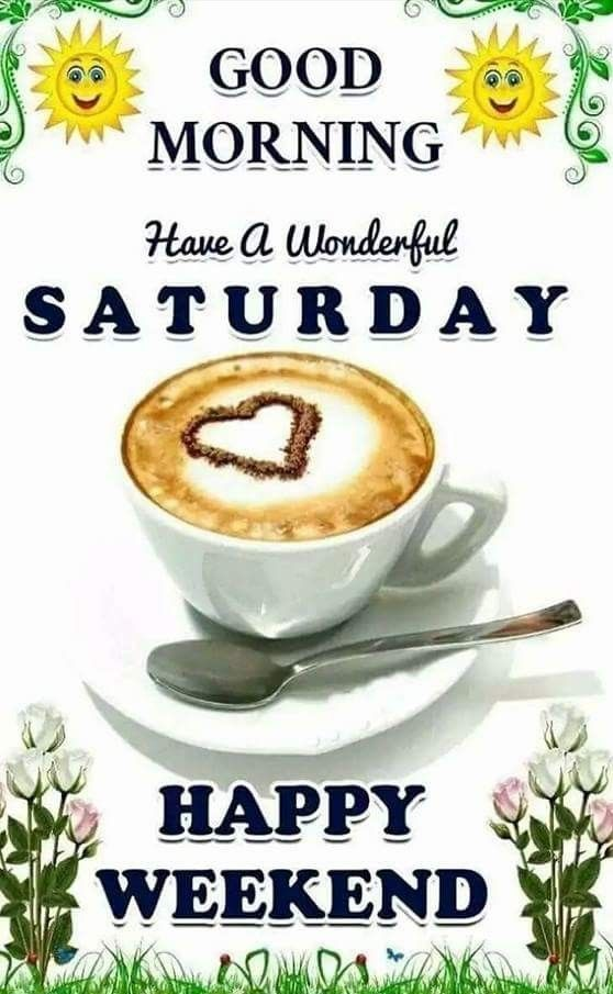 Sun And Coffee Good Morning Saturday Weekend Image