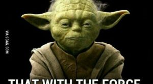 Yoda throwing some shade Mah man yoda!