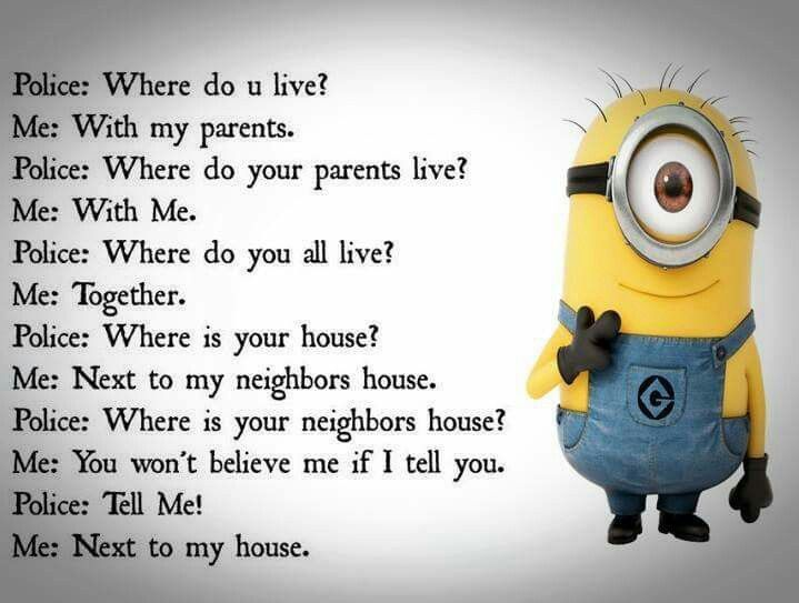 When the police asks the minions some The answers be like…