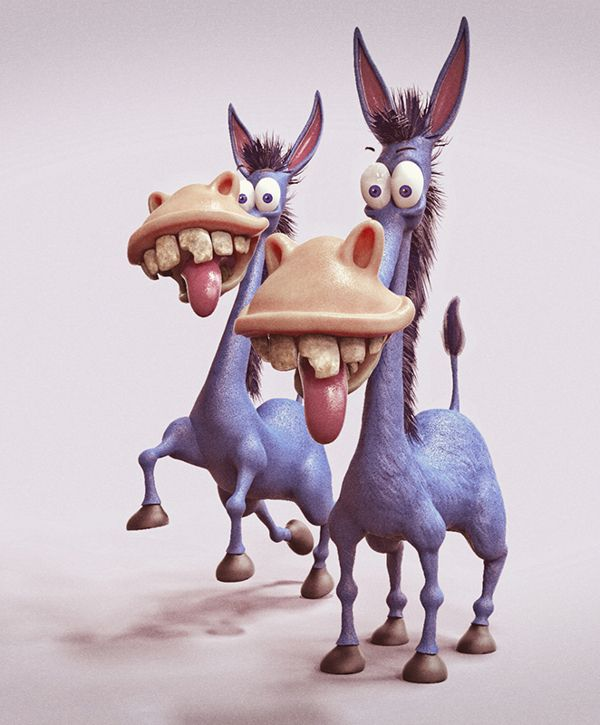 Funny donkey character design and illustration Twitter: @Deviatom Instagram: @tomajestic
