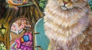 Aceo Original Cat Mouse Spring Fairy Forest OOAK Miniature Painting | Art, Paintings |…