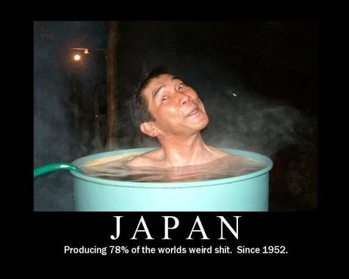 Meanwhile in Japan they continue to do funny stuff. This caption picture is hilarious!