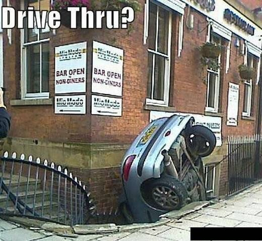 funny caption picture drive thru