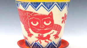 Made-to-Order Fabulous FLOWER POT Saucer, Outside or Inside Planter – Sly Cat Mouse ...