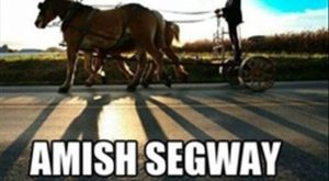 funny caption amish segway