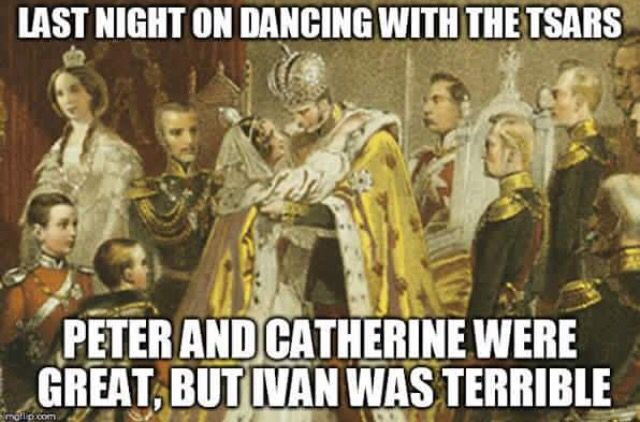 Last night on Dancing with the Tsars, Peter and Catherine were great, but Ivan…