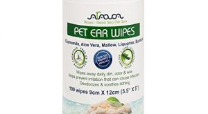 Arava Pet Ear Wipes: 100 Count – for Dogs, Cats, Puppies & Kittens, Natural…