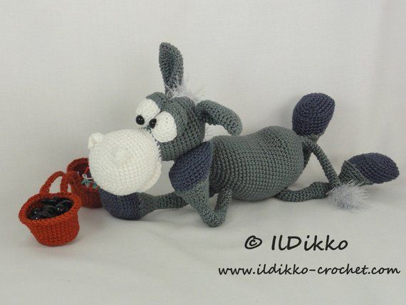 Amigurumi Crochet Pattern Dusty the Donkey English Version #affiliate explore Pinterest&#8...