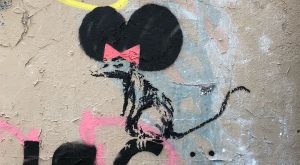 1968 Second work by Lori Banks in Paris representing a rat with big round…