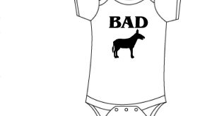 Bad s s/Donkey Funny baby onesie, bad ass onesie, funny gift for baby, funny…