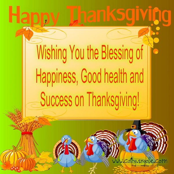 Happy Thanksgiving Quotes, Wishes and Thanksgiving Messages – Cathy