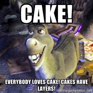 Cake! Everybody loves cake! Cakes have layers! | Donkey Shrek