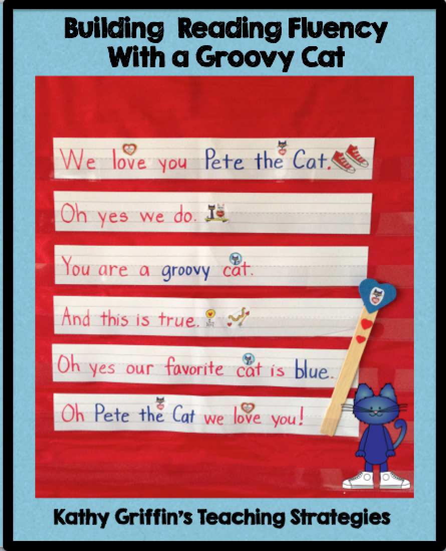 Pete the Cat Pocket Chart Activity via Kathy Griffin's Teaching Strategies #preschoo...
