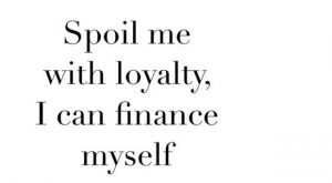 There's more than one way to spoil a girl