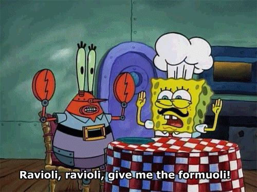 "When someone says ravioli, I say this like #SpongebobSquarepants search Pinterest""> ..."