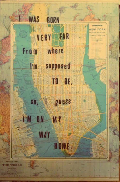 New York and California resemble each other, this is dawning on me. Life is…