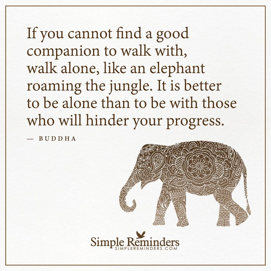 Walk alone If you cannot find a good companion to walk with, walk alone,…
